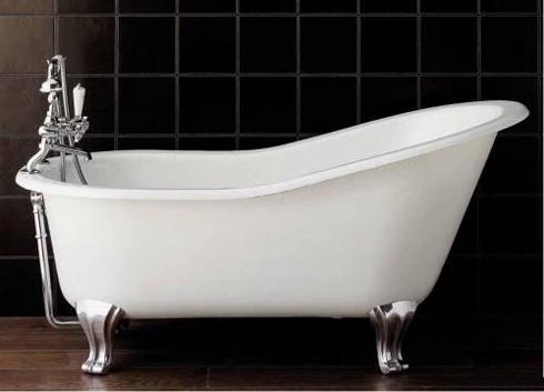 почистить старенькую ванну