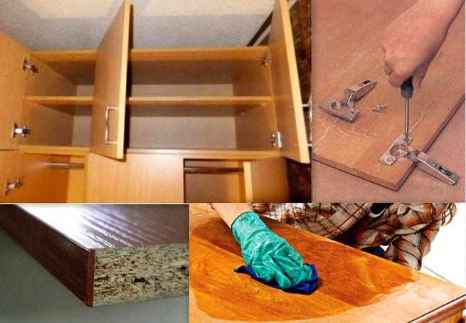 Как отремонтировать своими руками мебель для