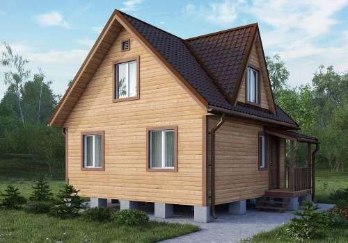 недорогие дачные дома из бруса